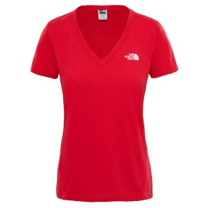 Tricou Hiking The North Face Simple Dome S/S W Rosu