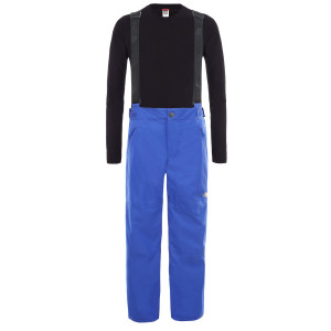 Pantaloni Ski Copii The North Face Youth Snow Suspender Plus Pant Tnf Blue (Albastru)