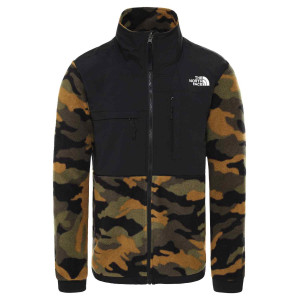 Polar Drumetie Barbati The North Face Denali Jkt 2 - Eu Burnt Olive Green Camo Print (Camuflaj)