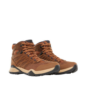 Ghete Drumetie Barbati The North Face Hedgehog Hike Ii Mid Gtx Timber Tan/India Ink (Maro)