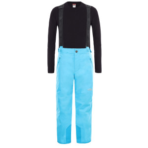 Pantaloni Ski Copii The North Face Youth Snow Suspender Plus Pant Acoustic Blue (Bleu)