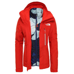Geaca Ski Femei The North Face Garner Triclimate Fiery Red (Rosu)