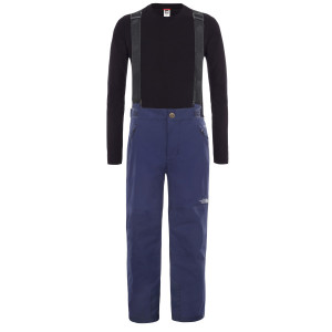 Pantaloni Ski Copii The North Face Youth Snow Suspender Plus Pant Montague Blue (Bleumarin)