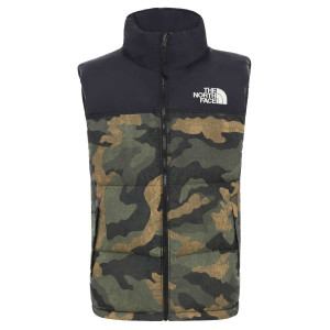 Vesta Puf Barbati The North Face 1996 Retro Nuptse Vest Burnt Olive Gre (Camuflaj)