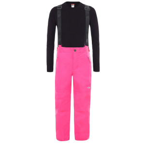 Pantaloni Ski Copii The North Face Youth Snow Suspender Plus Pant Mr. Pink (Roz)