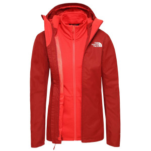 Geaca Drumetie Femei The North Face Quest Triclimate Cardinal Red/Juicy Red Stripe (Rosu)