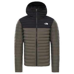 Geaca Puf Drumetie Barbati The North Face Stretch Down Hoodie New Taupe Green (Kaki)