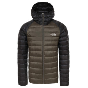 Geaca Puf Drumetie Barbati The North Face Trevail Hoodie New Taupe Green (Kaki)