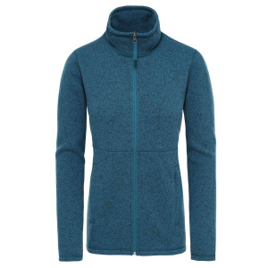 Polar Drumetie Femei The North Face Crescent Full Zip Blue Coral Tnf Black Heather (Albastru)