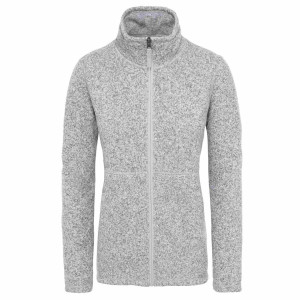 Polar Drumetie Femei The North Face Crescent Full Zip Tnf Light Grey Heather (Gri)