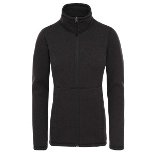 Polar Drumetie Femei The North Face Crescent Full Zip Tnf Black Heather (Negru)