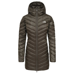 Haina Puf Femei The North Face Trevail Parka New Taupe Green (Kaki)