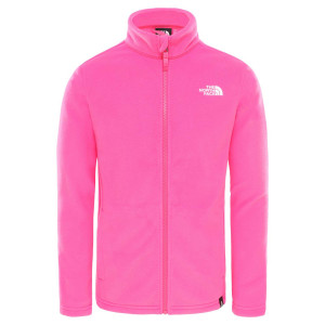 Polar Drumetie Copii The North Face Youth Snow Quest Full Zip R Mr. Pink (Roz)