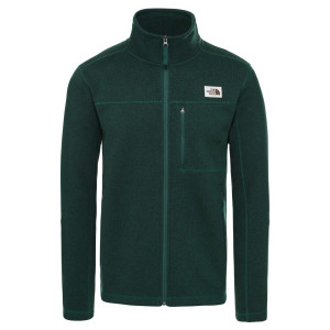 Polar Drumetie Barbati The North Face Gordon Lyons Full Zip Night Green Hea (Verde)