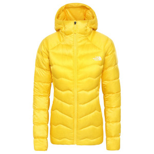 Geaca Puf Drumetie Femei The North Face Impendor Down Hoodie Vibrant Yellow (Galben)