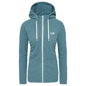 Hanorac Femei The North Face Mezzaluna Full Zip Hoodie Blue Coral Stripe (Albastru)