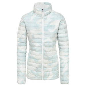 Geaca Drumetie Femei The North Face Thermoball Eco Jkt Tnf White Waxed (Alb)
