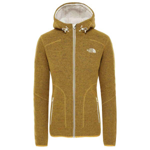 Hanorac Femei The North Face Zermatt Full Zip Hoodie Golden Spice Dark Heather (Galben)