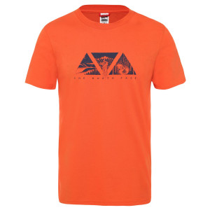 Tricou Barbati The North Face S/S Flash Tee Papaya Orange (Portocaliu)