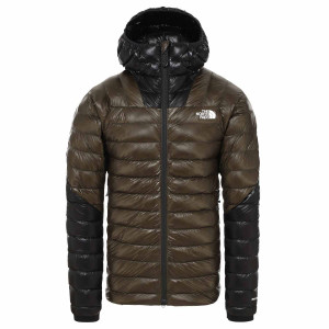 Geaca Puf Drumetie Barbati The North Face Summit L3 Down Hoodie New Taupe Green (Kaki)