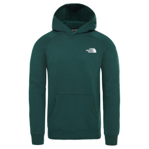 Hanorac Barbati The North Face Raglan Red Box Hoodie Night Green (Verde)