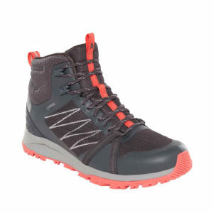 Ghete Drumetie Femei The North Face Litewave Fastpack Ii Mid Gtx Ebony Grey/Fiesta Red (Antracit)