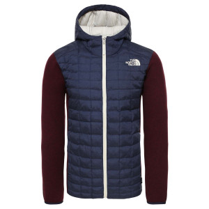 Geaca Drumetie Barbati The North Face Thermoball Hybrid Gordon Lyons Hoodie Montague Blue/Deep Garnet Red (Bleumarin)