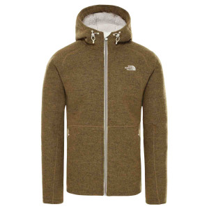 Hanorac Barbati The North Face Zermatt Full Zip Hoodie British Khaki Dark Heather (Kaki)
