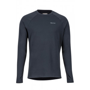 Bluza First Layer Barbati Marmot Midweight Harrier LS Negru