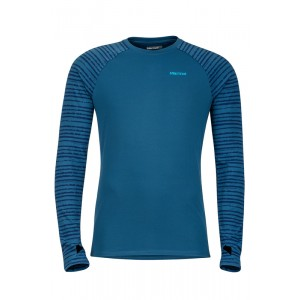 Bluza First Layer Marmot Harrier LS Crew M Albastru
