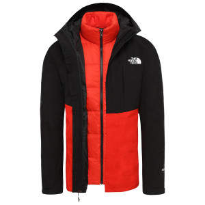 Geaca Puf Drumetie Barbati The North Face Down Insulated Gtx Tnf Black/Fiery (Negru)