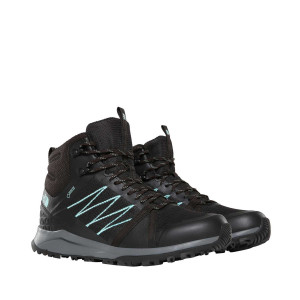 Ghete Drumetie Femei The North Face Litewave Fastpack Ii Mid Gtx Tnf Black/Aqua Splash (Negru)