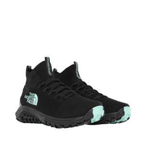 Semighete Drumetie Femei The North Face Truxel Mid Tnf Black/Beach Glass Grn (Negru)