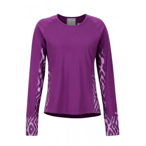 Bluza First Layer Femei Marmot Lightweight Lana LS Mov