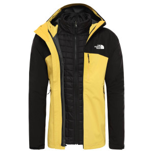 Geaca Drumetie Barbati The North Face Thermoball Triclimate Tnf Yellow/Tnf Black (Galben)