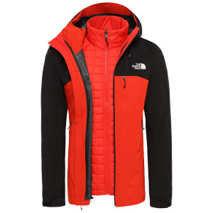 Geaca Drumetie Barbati The North Face Thermoball Triclimate Fiery Red/Tnf Black (Rosu)