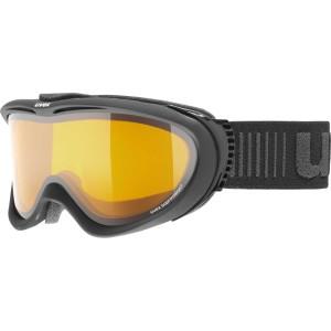 Ochelari Ski si Snowboard Unisex Uvex Comanche Black Mat Lasergold Lite Clear