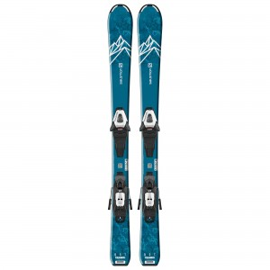 SALOMON SET SKI COPII L QST MAX Jr S + C5 GW J75