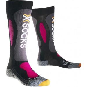 Sosete X-Socks Ski Carving Silver Lady Black/Violet