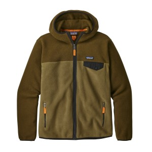 Hanorac Barbati Hiking Patagonia Lightweight Synchilla Snap-T Hoody Verde