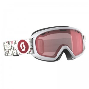 Ochelari Ski si Snowboard Juniori Scott Witty White/Pink / Illuminator