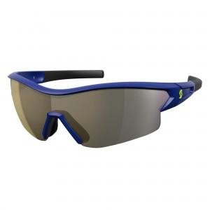 Ochelari de soare Ciclism Scott Leap Blue / Gold Chrome + Clear
