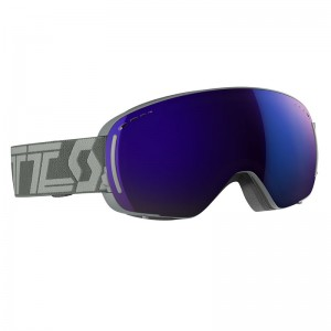 Ochelari Ski si Snowboard Scott LCG Compact Throw Back Grey / Solar Blue Chrome