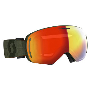 Ochelari Ski Unisex Scott Lcg Evo Kaki Green/Enhancer Red Chrome