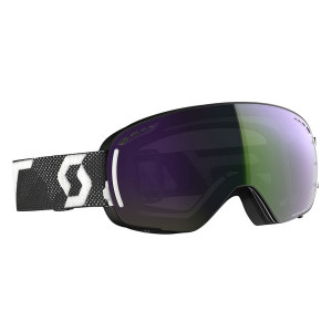 Ochelari Ski Unisex Scott Lcg Compact Black/White/Enhancer Green Chrome