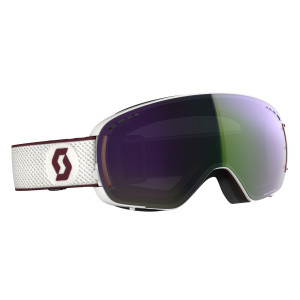 Ochelari Ski Unisex Scott Lcg Compact White/Merlot Red/Enhancer Green Chrome
