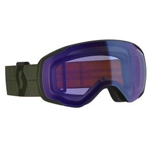 Ochelari Ski Unisex Scott Vapor Kaki Green/Illuminator Blue Chrome