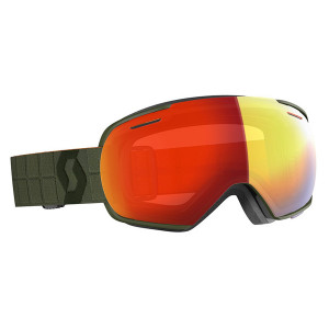 Ochelari Ski Unisex Scott Linx Kaki Green/Enhancer Red Chrome