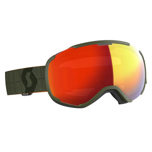 Ochelari Ski Unisex Scott Faze II Kaki Green/Enhancer Red Chrome
