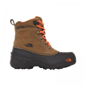 Ghete Juniori Hiking The North Face Chilkat Lace 2 Verde